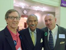 Dr David Keely, Rep. John Conyers Jr and David Ball, RN